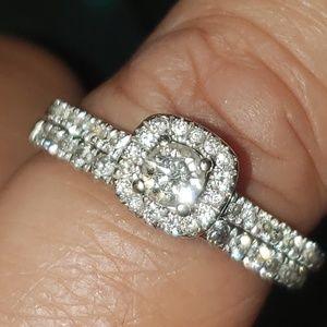 Women's Diamond 2Piece Bridal Set (14K White Gold)